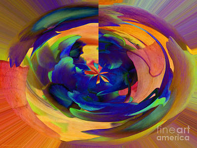 Colorful Photograph - Abstract Orchids by Gena Weiser