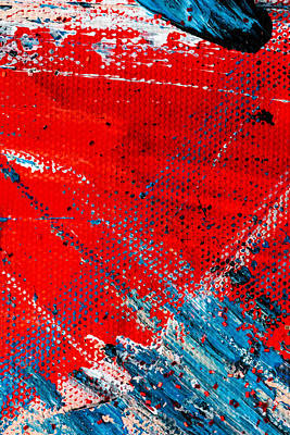 Painting - Abstract Original Artwork One Hundred Phoenixes Untitled Number Five by Maria Lankina