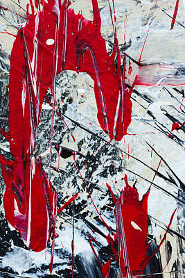 Painting - Abstract Original Painting Untitled Nine by Maria Lankina