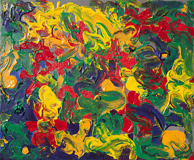 Abstract Painting - Abstract Painting - Color Explosion by Enzie Shahmiri