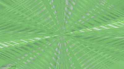 Digital Art - Abstract Palm Fronds by Linda Whiteside