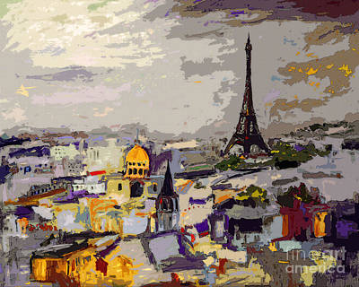 Abstract Paris Memories Art Print