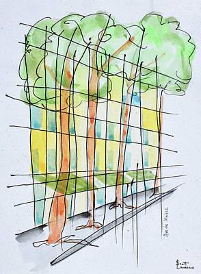 Abstract Parisian Street, Paris, France Art Print