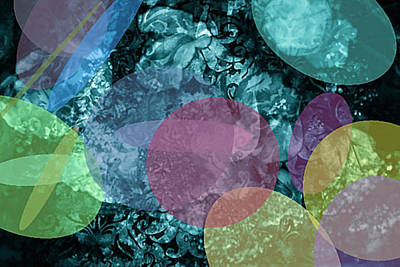 Digital Art - Abstract Pastel Circles by Femina Photo Art By Maggie