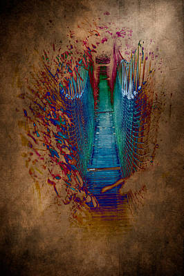 Abstract Path Print by Loriental Photography