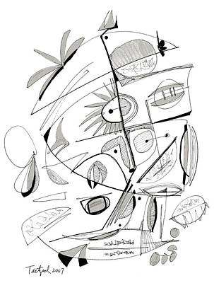 Abstract Pen Drawing Sixty-seven Art Print