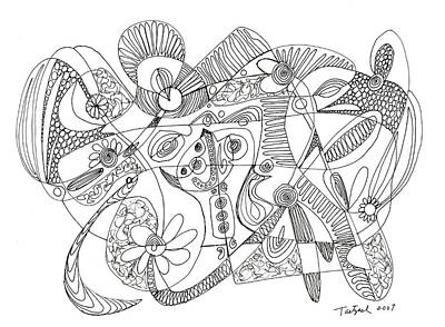 Abstract Pen Drawing Thirty-eight Art Print