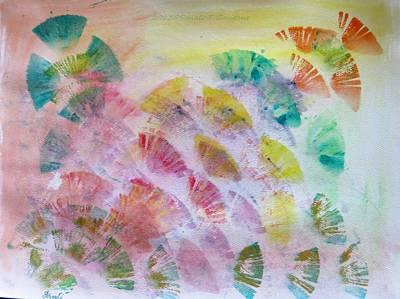Holi Painting - Abstract Petals by Sonali Gangane