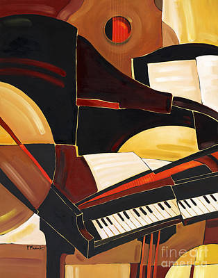 Note Painting - Abstract Piano by Paul Brent