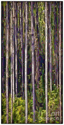 Digital Art - Pine Forest by Walt Foegelle