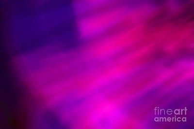 Photograph - Abstract Pink And Blue Blur by Marvin Spates