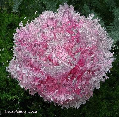 Abstract Flowers Painting - Abstract Pink Flower by Bruce Nutting