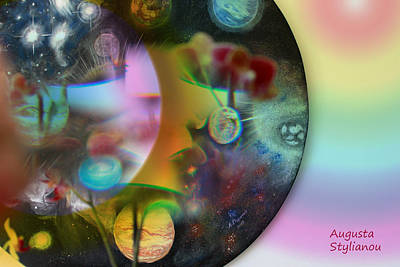 Abstract Planets Art Print