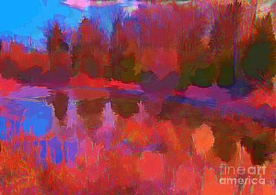 Art In Halifax Digital Art - Abstract Pond by John Malone