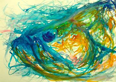 Fish Painting - Abstract Poon  by Yusniel Santos