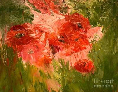 Abstract Poppies Original