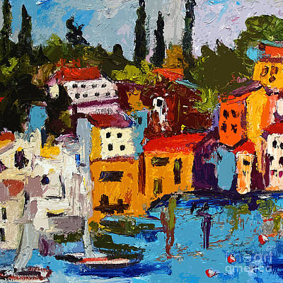 Painting - Abstract Portovenere Italy Part One by Ginette Callaway