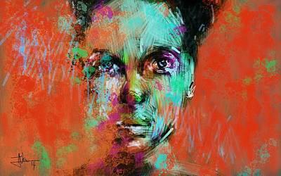 Digital Art - Abstract Portrait June 24 2014 by Jim Vance