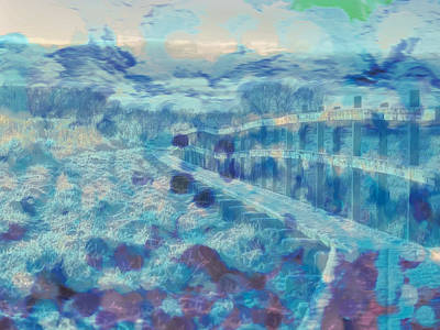 Abstract  Presentation Of Pathway Over Dyarna Enkoping On December 28 2014 About 2 Pm. Art Print by Leif Sohlman