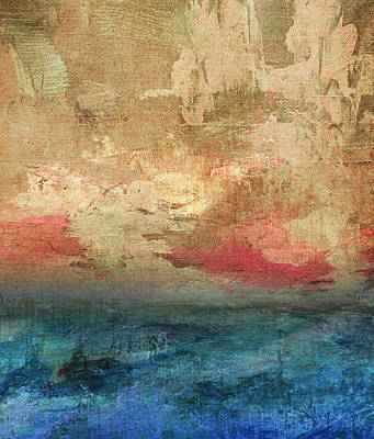 Abstract Seascape Mixed Media - Abstract Print 3 by Filippo B