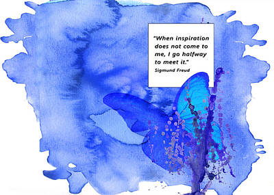 Abstract Quote 2 Art Print