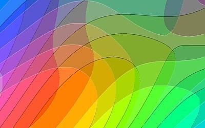 Abstract Rainbow 66 Art Print