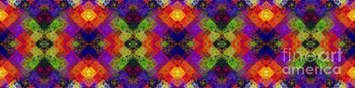 Abstract - Rainbow Connection - Panel - Panorama - Vertical Art Print by Andee Design