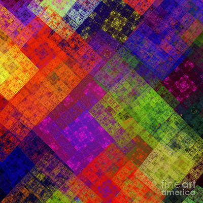Digital Art - Abstract - Rainbow Infusion - Square by Andee Design