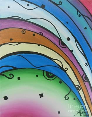Painting - Abstract Rainbow by Juan Molina