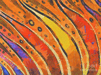 Impressionistic Landscape Painting - Abstract Rainbow Tiger Stripes by Pixel Chimp