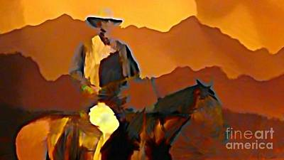 Biege Painting - Abstract Range Riding by John Malone