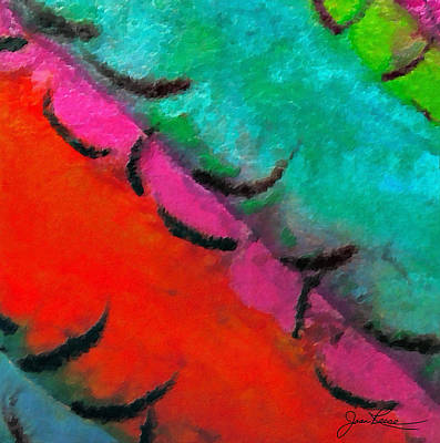 Painting - Abstract Red Blue by Joan Reese