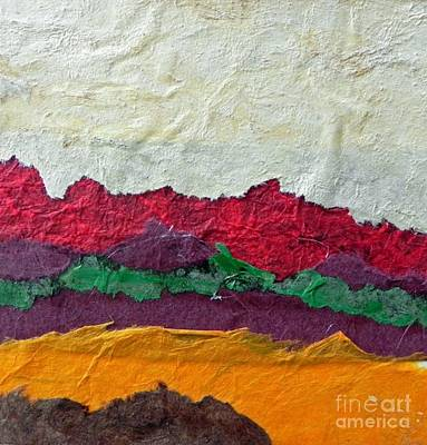 Mixed Media - Abstract Red Hills by Patricia  Tierney