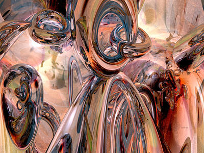 Abstract Reflecting Rings Art Print by Phil Perkins