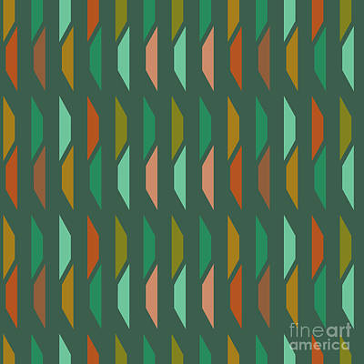 Digital Art - Abstract Retro Pattern.vector by Iryna Kopystko