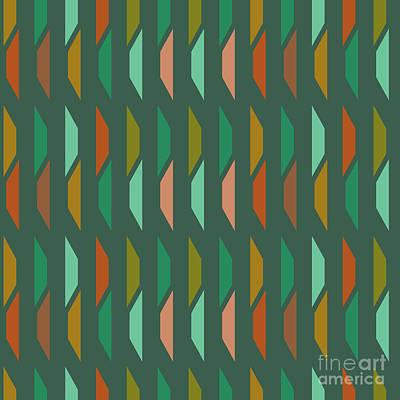 Glamour Digital Art - Abstract Retro Pattern.vector by Iryna Kopystko