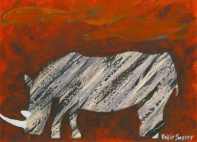 Painting - Abstract Rhino by Katie Sasser