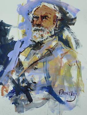Painting - Abstract Robert E Lee by Robert Joyner