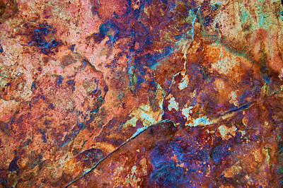 Photograph - Abstract Rock Face by Tamyra Crossley