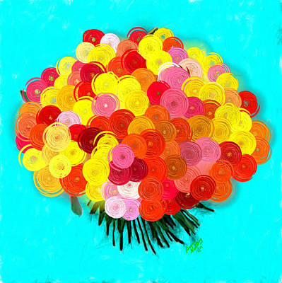 Flower Painting - Abstract Roses by Bruce Nutting