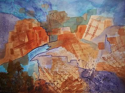 Painting - Abstract Ruins by Ellen Levinson