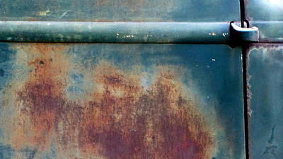 Photograph - Abstract Rusty Door 1 by Anita Burgermeister