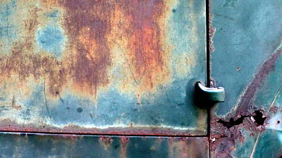 Photograph - Abstract Rusty Door 2 by Anita Burgermeister