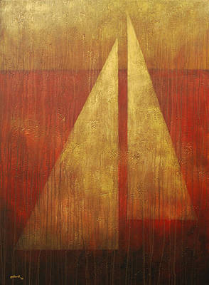 Painting - Abstract Sail by Glenn Pollard