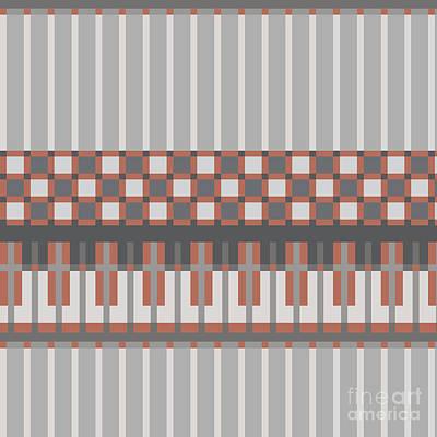 Material Wall Art - Digital Art - Abstract Seamless Pattern.vector by Iryna Kopystko