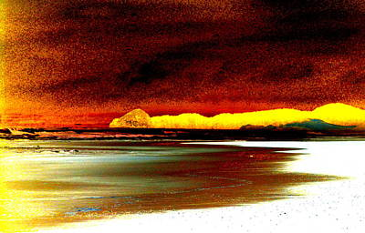 Abstract Seascape Art Print by Mamie Gunning