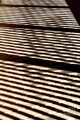 Lady Bug - Abstract Shadows on Boardwalk by John Harmon