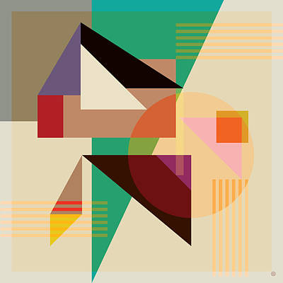 Modern Art Digital Art - Abstract Shapes #4 by Gary Grayson