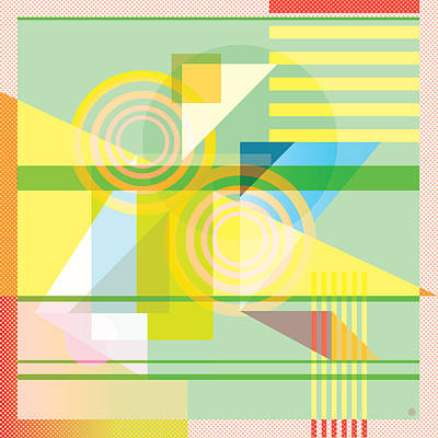 Circles Digital Art - Abstract Shapes #5 by Gary Grayson