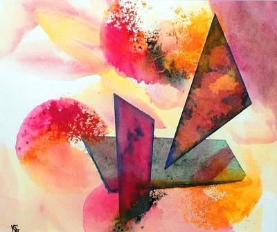Painting - Abstract Shapes by Kim Shuckhart Gunns